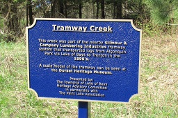 Tramway Creek Heritage Plaque Dedication – May 21, 2016